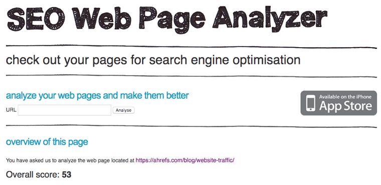 Seowebpageanalyizer ابزار رایگان سئو 2020
