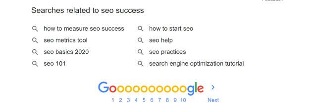 ظاهر کاربری قدیمی گوگل برای جستجوهای مرتبط
