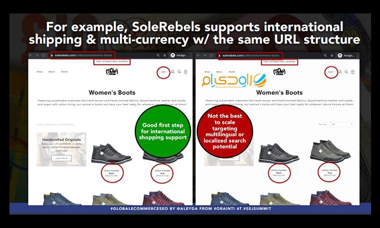 ساختار مناسب برای وب سایت های بین المللی