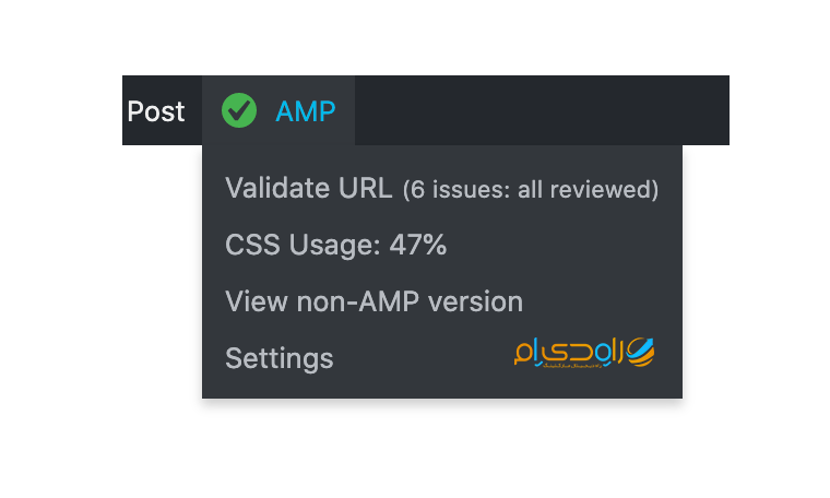 گزارش عملکرد صفحات Amp در وردپرس